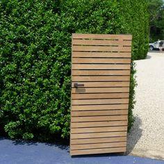 modern horizontal garden gate