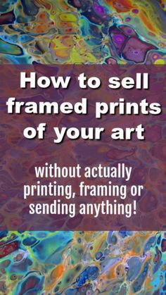 How to sell framed prints of your art in your Etsy store without actually printing, framing or sending anything. A video tutorial on how to use Printful to print, frame and fulfil your orders Selling Paintings, Your Paintings, Sell Paintings Online, Selling Art Online, Online Art, Painting Prints, Art Prints, Framed Prints, Silk Painting