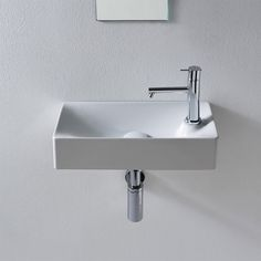 Buy the Nameeks Scarabeo Hole White / One Hole Direct. Shop for the Nameeks Scarabeo Hole White / One Hole Scarabeo Ceramic Bathroom Sink For Vessel or Wall Mounted Installation - Less Overflow and save. Lave Main Design, Drop In Bathroom Sinks, Pool Bathroom, White Bathroom, Pedestal Sink, Vessel Sink, Lavatory Sink, Small Sink, Wall Mounted Bathroom Sinks