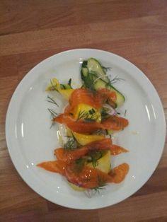SALMON SALAD Salmon Salad, Stuffed Peppers, Vegetables, Food, Tarts, Meal, Stuffed Pepper, Essen, Vegetable Recipes
