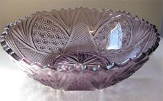 Moroccan Amethyst Depression Glass Bowl made by Hazel Atlas Company - 1940's to 1960's