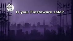 Will your fiestaware be safe on Halloween Night? Maybe not...