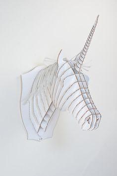 Wanna have! Merlin Jr.- Medium Unicorn Trophy- White or Brown