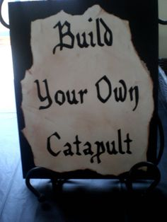 michelle paige: A Knights-In-Training Birthday Party! Love the build your own catapult idea