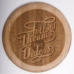 Engraved wood typography by South African designer, Ben Johnston