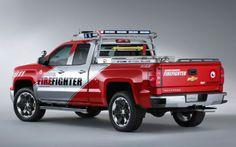 2014 Chevrolet Silverado Z71 Volunteer Firefighter SEMA Concept Truck Left Side
