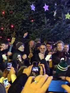 Bono from U2 singing at Grafton street - Christmas 2013 #u2NewsActualite #u2NewsActualitePinterest #u2 #bono #PaulHewson #picture #2013  http://wombatzoo.tumblr.com/