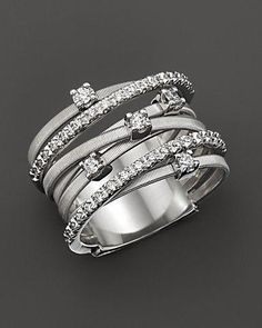 """Marco Bicego """"Goa"""" White Gold and Diamond Ring, ct. Jewelry & Accessories - Fine Jewelry - All Fine Jewelry - Bloomingdale's Pandora Jewelry, Jewelry Rings, Jewelry Accessories, Fine Jewelry, Jewlery, Diamond Rings, Diamond Engagement Rings, Diamond Jewelry, Ruby Rings"""