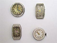 Vintage Wrist Watch Faces.  SOLD