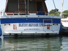 Naming a boat can cause much amusement - as the Boat McBoatface debacle proved. And now some of the funniest boat names from around the world have been shared in an online gallery. Clever Boat Names, Funny Boat Names, Best Entrepreneur Quotes, Big Deck, Boat Humor, Ship Names, Pirates Of The Caribbean, Bikini Babes, Picture Show