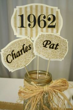50th anniversary picks...  you could also do this for each child the couple had with the year they were born