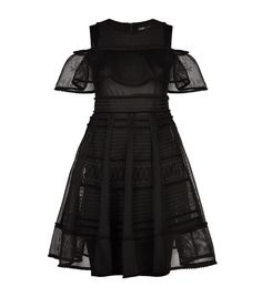 Maje Mesh Ruffle Dress available to buy at Harrods.Shop clothing online and earn Rewards points. Mesh Dress, Ruffle Dress, Ruffles, Maje, Harrods, Feminine, Elegant, Grey, How To Wear