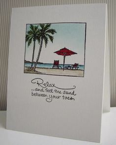 Stamping with Loll: Relaxin' on the Beach