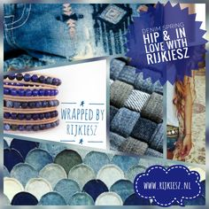 Denim springblue in love wrap bracelet, blue, ibiza, denim style, boho chique, hip, juwelry , beaded bracelet