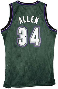 cffeab8fbd39 Adidas Mens Milwaukee Bucks NBA Ray Allen Swingman Jersey Green Medium    See this great product
