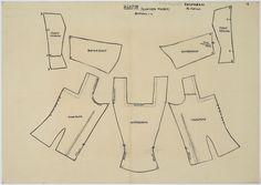Drawing pattern kletje woman Volendam Costume Patterns, Dress Patterns, Diy Clothing, Clothing Patterns, Tulip Festival, Apron Dress, Folk Costume, Pattern Drawing, Diy Dollhouse