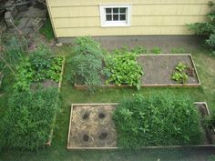 Building raised beds tutorial with step by step photos.