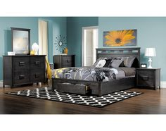 Bedroom Furniture-The Bond Collection-Bond Queen Storage Bed
