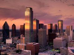 Vista de la ciudad de Dallas-TEXAS