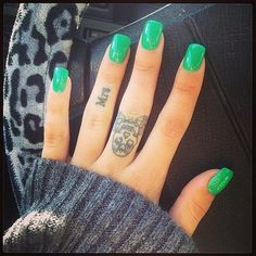 Manicure ideas based green color #nails #nailart