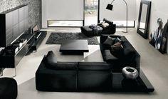... suficiente para resaltar la belleza de los muebles de la sala negro