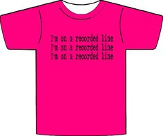 Recorded Line Tshirt SXL by NocturnalDispatchers on Etsy, $18.00