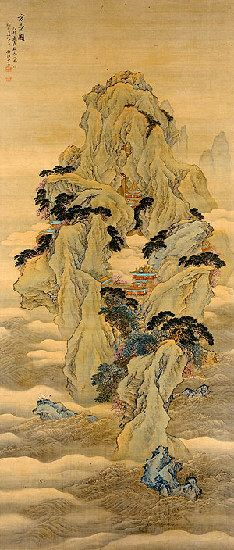 Wang Yun (1652?1735 or later) The Fanghu Isle of the Immortals (detail) Qing dynasty, Kangxi reign, dated 1699