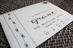 Calligraphy Envelope Custom Addressing Grant by 5thFloorDesigns