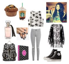 """""""First Day of School"""" by emotionssuck ❤ liked on Polyvore featuring Chicnova Fashion, J Brand, Pussycat, Converse, SM New York and alfa.K"""