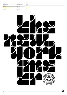 designed by Attila Horvath / OFC The New York Metro - Typeface by Official Classic Typography Alphabet, Cool Typography, Typography Layout, Graphic Design Typography, Lettering Design, Japanese Typography, Alphabet City, Typographic Poster, Typographic Design