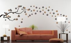 Sakura Cherry Blossoms Decal Vinyl Wall Art Bonus by ghettovinyl, $64.95