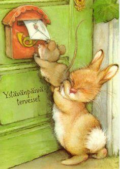 quenalbertini: Kids page illustration by Lisi Martin Art And Illustration, Illustration Mignonne, Lapin Art, Susan Wheeler, Art Fantaisiste, Art Mignon, Bunny Art, Whimsical Art, Cute Art