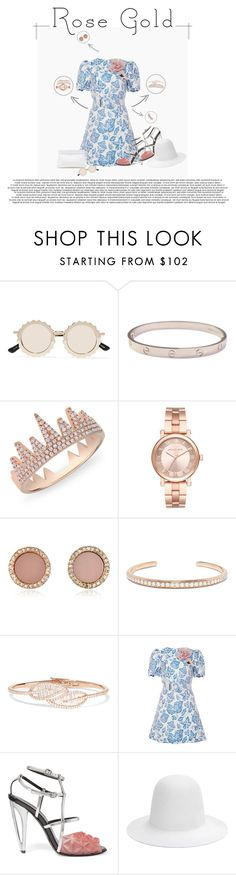 """""""Rose Gold"""" by poison-iivy ❤ liked on Polyvore featuring House of Holland, Cartier, Anne Sisteron, Michael Kors, Anita Ko, Alcoolique, Fendi, Gucci and rosegold"""