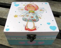 YOU ARE SO LOVED PERSONALISED BABY BOY BLUE WOODEN KEEPSAKE BOX
