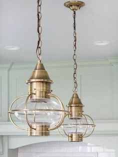 Nautical decor feels like summer, and these lantern pendants would
