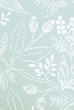 Rifle Paper Co - Gift Wrap - Single Sheet - Folded - Spearmint Blossoms