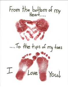Footprint Fathers Day Crafts