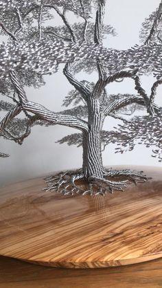 Wire Board, Copper Wire Art, Bonsai Wire, Angel Oak, Wire Art Sculpture, Planting Shrubs, Wire Trees, Scrap Metal Art, Metal Fabrication
