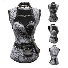 Corsets - Steampunk Steel Boned Corset Leather With Jacket
