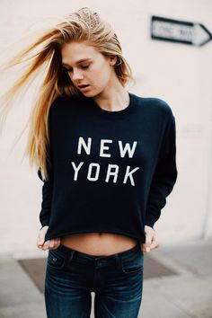 Brandy ♥ Melville | Nancy New York Sweatshirt - Graphics