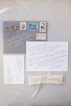 "Letterpress Wedding Invitation--""Shades of Gray"". $150.00, via Etsy."