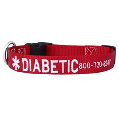 These Embroidered Medical Alert Dog Collars easily inform others of your dog& medical needs. Customize your dog& medical needs on this USA made nylon collar! Boxer Dog Quotes, Medication For Dogs, Dog Separation Anxiety, Dog Information, Personalized Dog Collars, Diabetic Dog, Dog Safety, Dog Hacks, Losing A Dog
