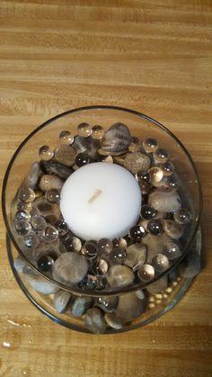 Petoskey stone Candle