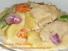 Cheesy Pineapple Chicken, Pininyahang Manok with Cheese