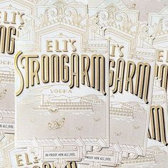 Eli's Strongarm Vodka by Kevin Cantrell Design