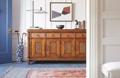 Rugs help define an entry and add texture and pattern for a finished feel.