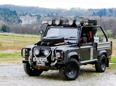 """landroverphotoalbum: """"The Tomb Raider Defender at Eastnor Castle. By @nickdimbleby #landrover #landroverdefender #landroverphotoalbum #4x4 #offroad #tombraider """""""