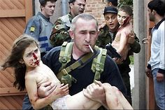 Early September, 2004.  Beslan Massacre also known as the Beslan school hostage crisis. Over 1100 people are held hostage including 777 children.  Eventually over 380 people are killed.