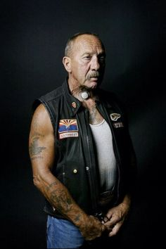 Sonny Barger member of the Hells Angels motorcycle club.