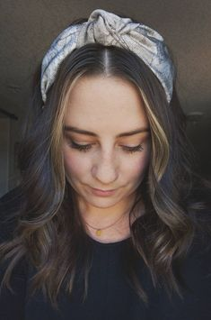 Top Knot Headband in Gold and Silver Knot Headband, Headbands, Turban Style, Top Knot, Bangs, Thrifting, Knots, Hair Accessories, Silver